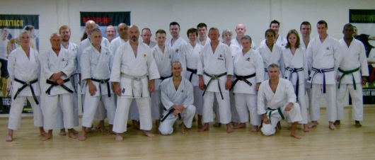 Training with Dave Hazard 7th Dan, Oct 2012